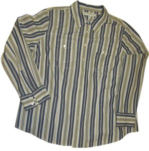 Tommy Hilfiger Jean Long Sleeve Top Beige, Blue, Green striped