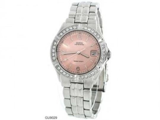 Guess New Guess Women's G75791M Stainless-Steel Quartz Watch with Pink Dial