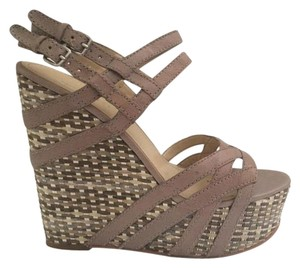Nine West Gray Summer Casual Grey and taupe Wedges