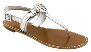 Tory Burch Flat Sandal Silver Sandals
