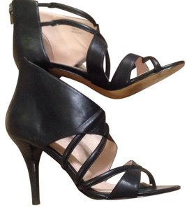 Calvin Klein Cage Leather Black Sandals