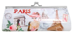 Cute Le Paris Eiffel Tower Multicolor Chain Purse Clutch