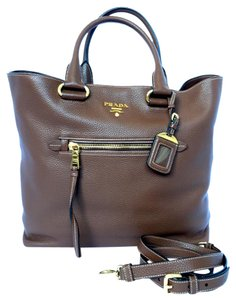 Prada Palissandro Vitelle Tote Shoulder Bag