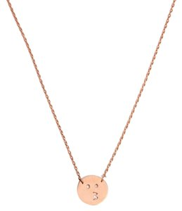 Ellie Jay Jewels Rose Gold 14K Kiss Emoji Neckalce