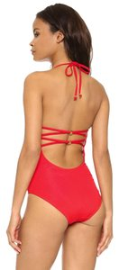 Shoshanna shoshanna lattice back one piece swimsuit