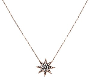 Ellie Jay Jewels 14K Rose Gold and Black Rhodium Diamond Starburst Necklace