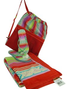 Vera Bradley Beach Resort Vacation Carryall Sunbathing Serape Paradise Travel Bag