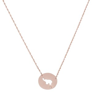 Ellie Jay Jewels 14K Rose Gold Elephant Disk Necklace