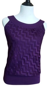 Maurices Keyhole Banded Bottom Zigzag Top purple