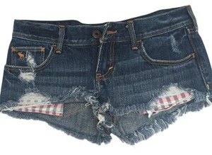 abercrombie kids Cheeky Micro-mini Cut Off Shorts Denim