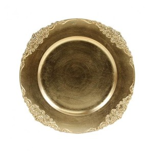Gold Vintage Charger Plates (set Of 8)