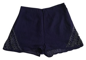 Topshop Mini/Short Shorts Navy blue