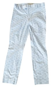 Gap Capris blue and white retro print