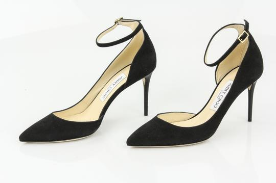 Jimmy Choo New Suede Pointed Toe Black Pumps