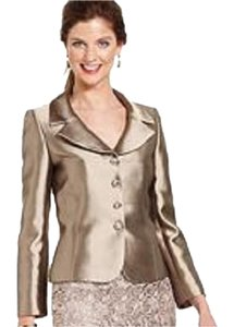Tahari Tahari ASL Three-Button Metallic Jacket And a Matching Black Skirt Suit Size 8