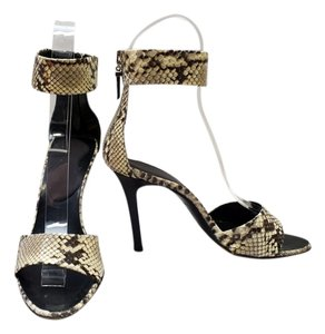 Versace Python Snakeskin Open Toe Multi-Color Sandals