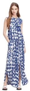 Blue / White Maxi Dress by Vince Ikat Maxi Tank
