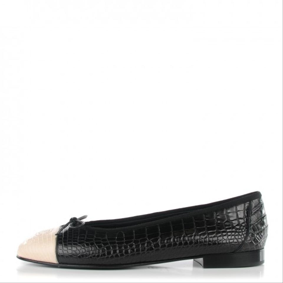 7242fe69c4ca Chanel Black and White Limited Edition   Crocodile Alligator Ballet ...