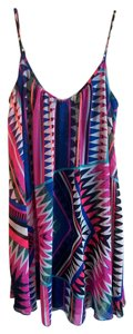 Express Trapeze Aztec Geometric Dress