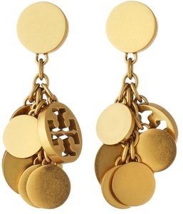 Tory Burch NWT TORY BURCH LOGO CHARM DROP EARRINGS