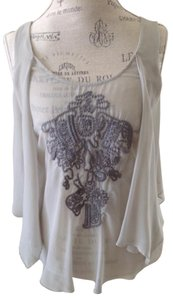 Zara Flowy Flowy Top Gray