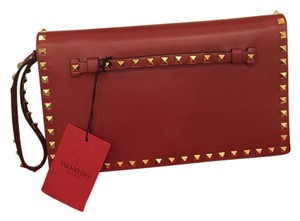 Valentino Rockstud Red Clutch