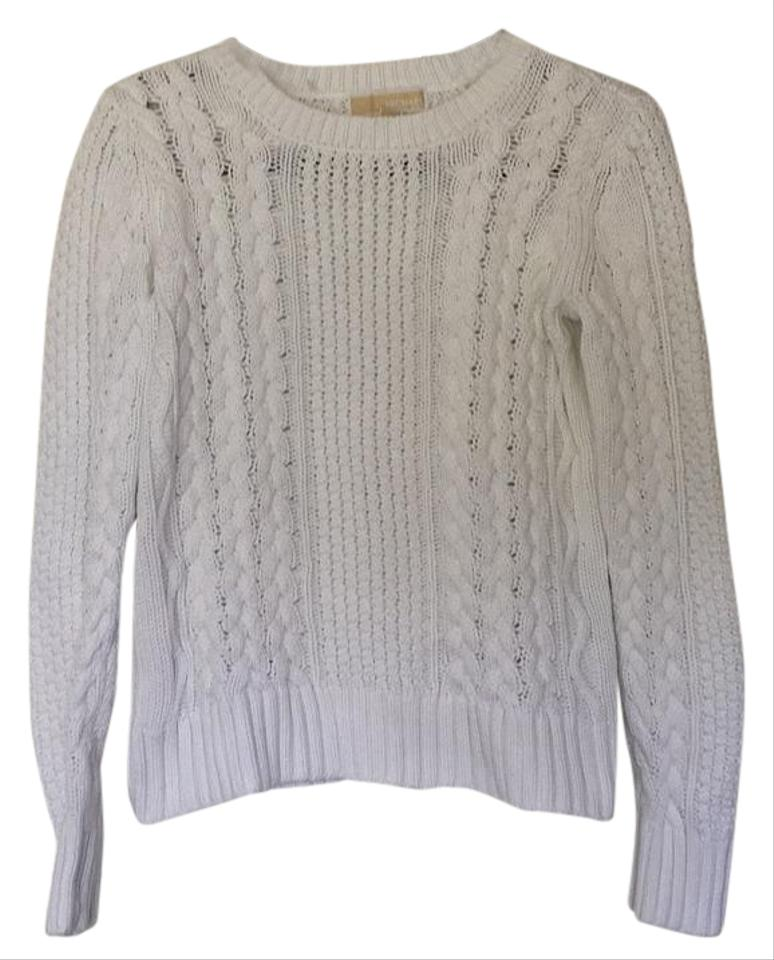 michael kors white sweater pullover size 4 s tradesy. Black Bedroom Furniture Sets. Home Design Ideas