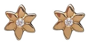 Ellie Jay Jewels 14K Yellow Gold Diamond Daisy Post Earrings