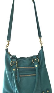 Linea Pelle Crossbody Leather Tote in Turquoise