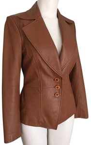 Nordstrom Never Worn 100% Leather Fully Lined Blazer Style Brown Leather Jacket