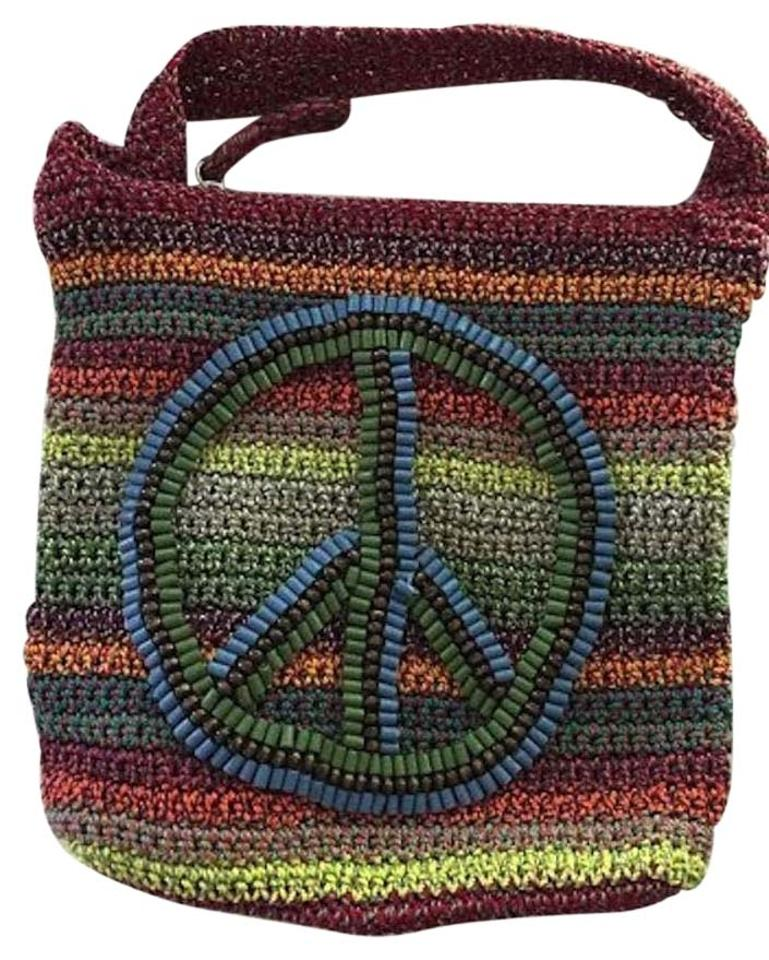 The Sak Peace Sign Multi Colored Woven Shoulder Bag Tradesy
