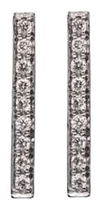 Ellie Jay Jewels 14K White Gold and Diamond Thick Stick Post Earrings