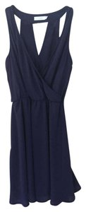 Lush short dress Navy Back Cutout Work To Evening on Tradesy