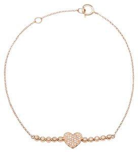 Ellie Jay Jewels 14K Rose Gold and Diamond Bubble Heart Bracelet