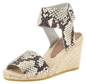 Vince Espadrille Wedge Black and white Wedges