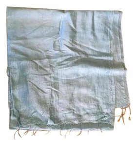 Other Light Blue Silk Shawl