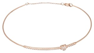 Ellie Jay Jewels 14K Rose Gold and Diamond Puffy Heart Bangle With Closure