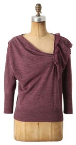 Anthropologie Wool Knitted & Knotted Ruffle Sweater