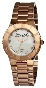 Bertha Millicent Rose Gold-tone Steel White Mother of Pearl Dial Ladies Watch BR2705