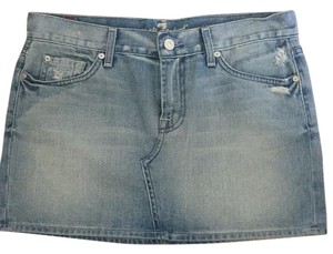 7 For All Mankind Mini Skirt Light wash