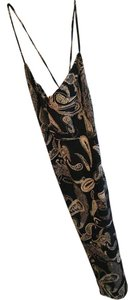 Black and Tan paisley Maxi Dress by Express Spaghetti Strap