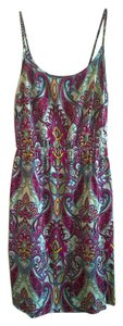 Old Navy short dress Burgundy Paisley on Tradesy