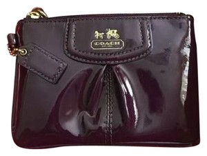 Coach COACH Burgundy Liquid Gloss Wristlet Wallet - NIB