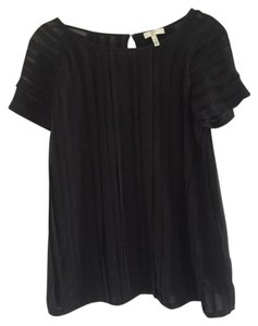 Joie Pleated Relaxed Top black
