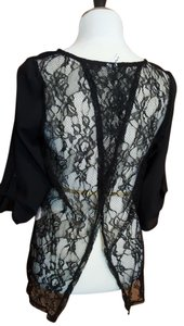 Studio Y Chiffon Lace Fly Away Open Top black