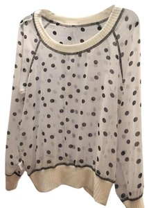 Olivia Moon Black/white Polka Dot Top White/Black