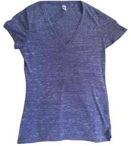 Bella V-neck Heather Cool T Shirt Blue