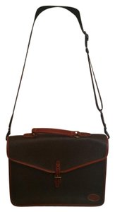 Mulberry Leather Scotchgrain Gold Hardware Studded Brown Messenger Bag