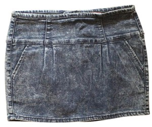 Forever 21 Mini Grunge Mini Skirt DENIM