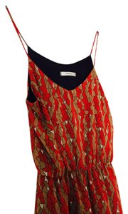 Audrey short dress red and brown Sf Summer Shapes on Tradesy
